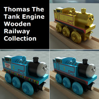 wooden railway toy thomas 3d model