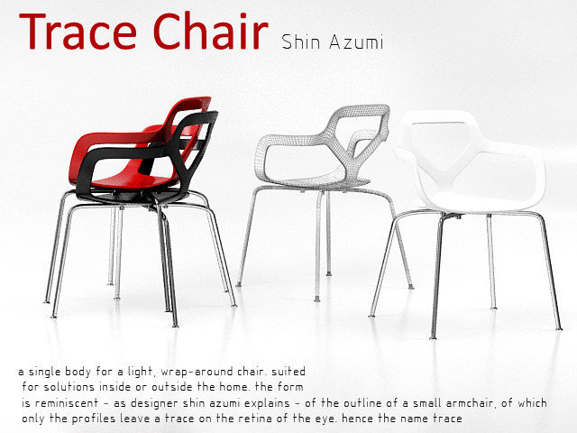 trace chair 3d model