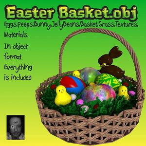 eggs basket 3d model