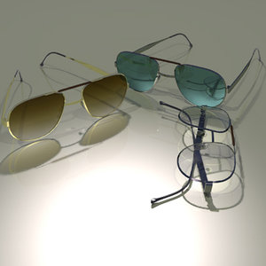 styled glasses 3d model
