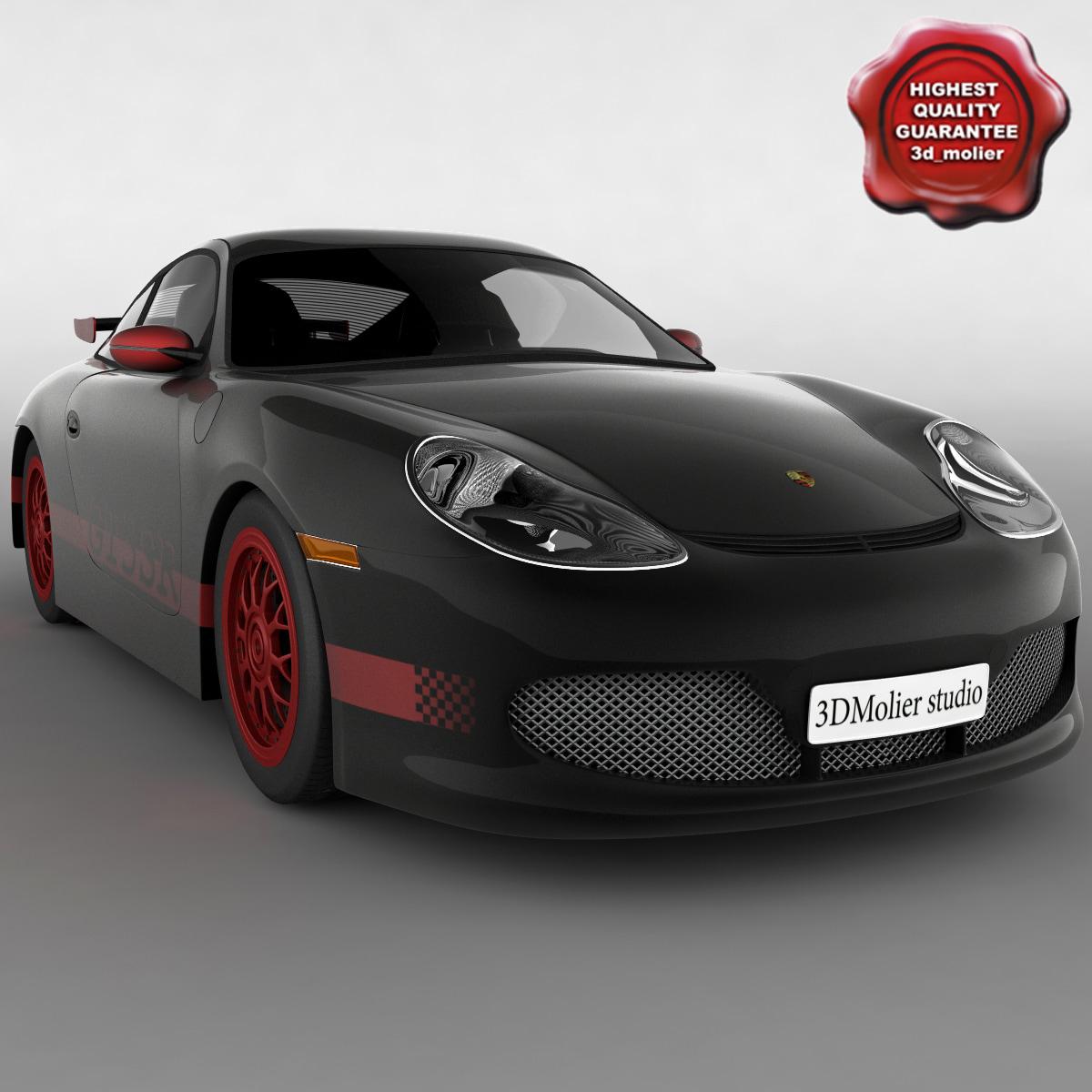 3d model realistic 911 gt3 car interior