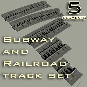 maya subway railroad track set