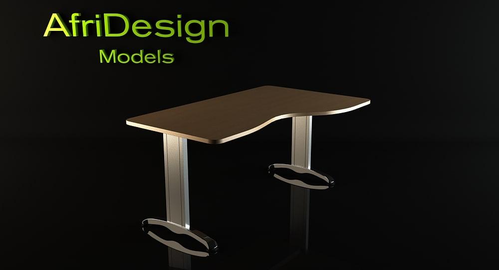 actiu central table 3d max