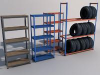 3d model modular shelves 01