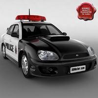 subaru impreza police car 3d model