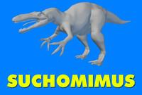 suchomimus dinosaur 3d model