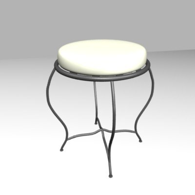 forged stool 3ds