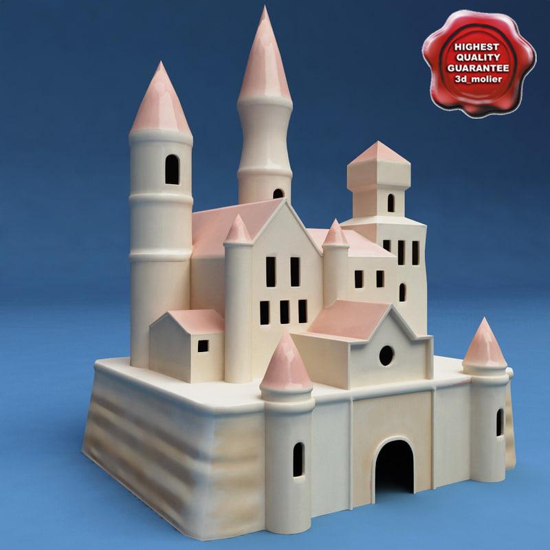 toy castle 3d model
