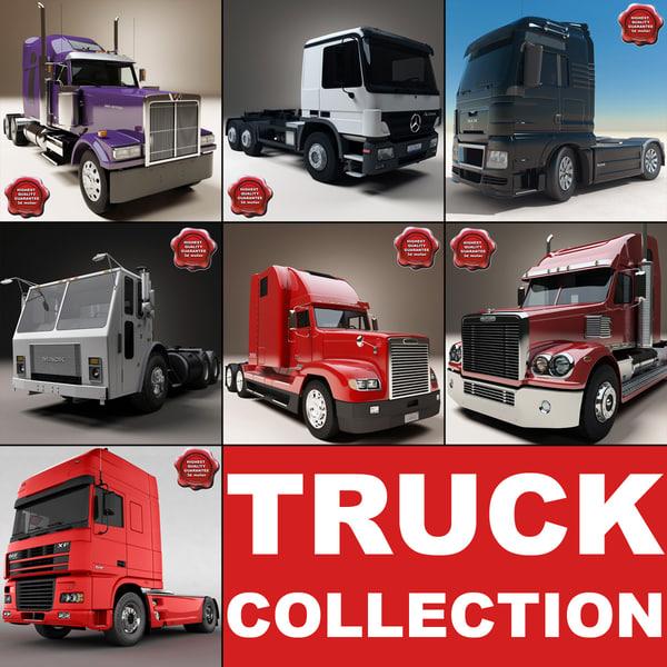 trucks set daf 3d model