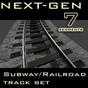 3ds max subway railroad track next-gen