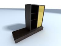 wardrobe armario salon 3d max