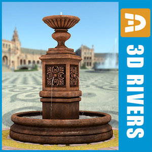 fountain old parks 3d model
