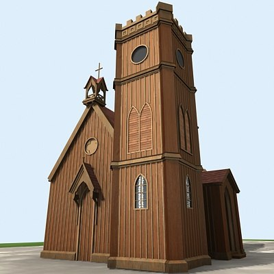 church historic building 3d max