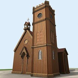 church historic building 3d max
