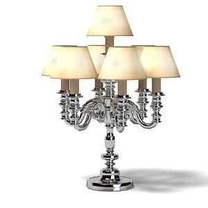 3d model candel table lamp