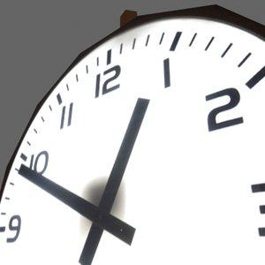 3d clock hall model
