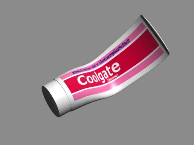 3d toothpaste tooth