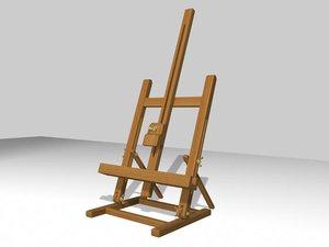 3d model art easel