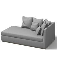 flexform sofa modern 3d 3ds