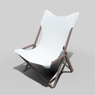 Easy Chair Cloth 3d Model