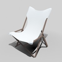 outdoor easy chair cloth 3d model