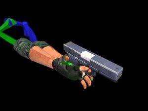 3dsmax glock weapon