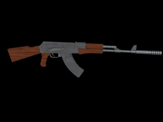 3d ak-47 fps games model