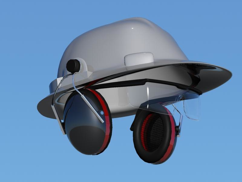 3d hardhat ear defenders safety