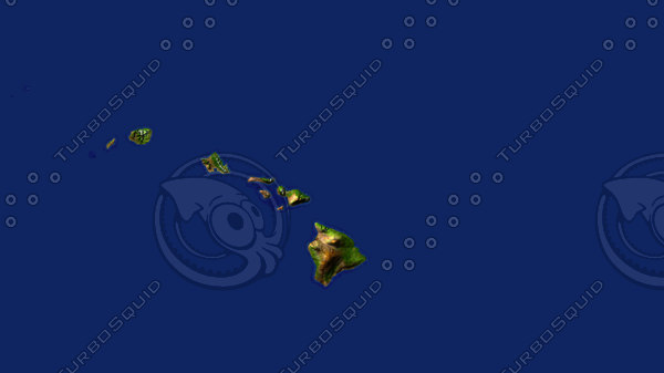 hawaii maps 3d model