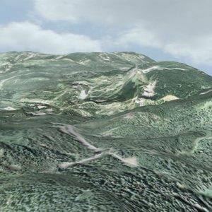 3d model landscape land