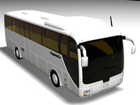 man coach bus 3d model