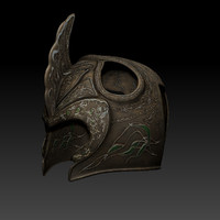 elf helm helmet 3d model