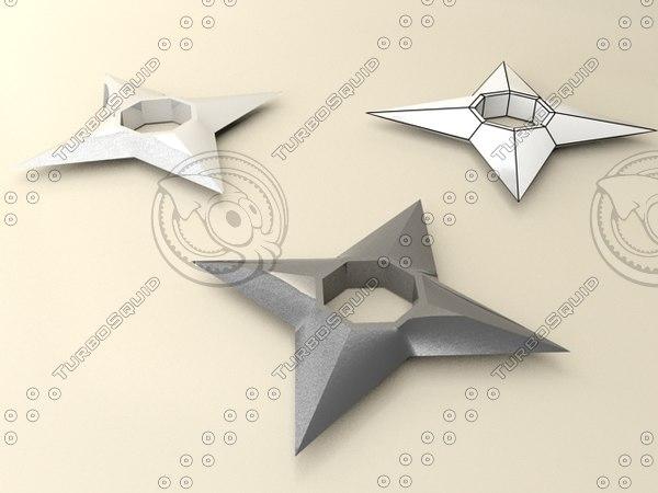 free shuriken naruto 3d model