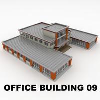 3d model of office building 09