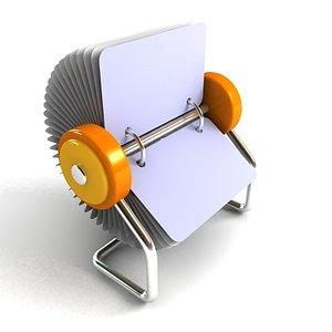 stationery organizer reminder 3d model