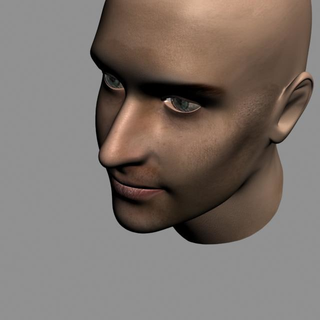 3ds max face characters woman man