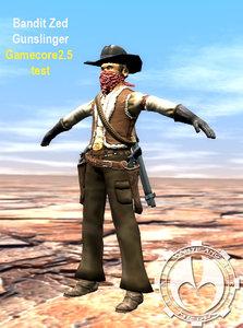 wild west bandit 3d model