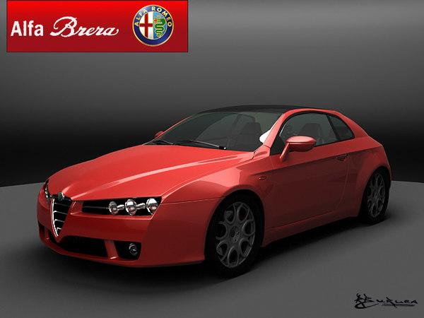 free alfa romeo brera 3d model