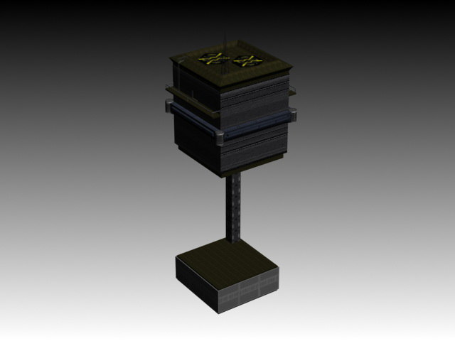 3d sci-fi guard tower maelstrom model