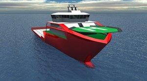 ship trawler 3d model