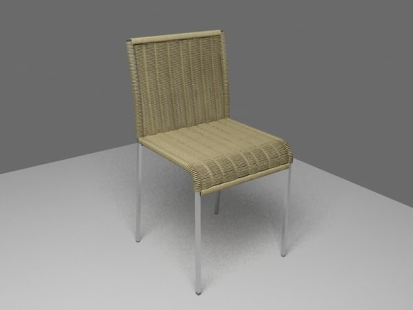 chair straw 3d model