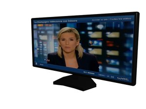 3d model television plasma