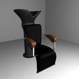 3ds max coiffeur chair
