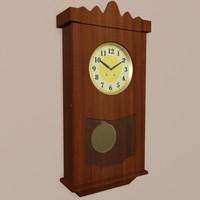 classic wall clock 3d max