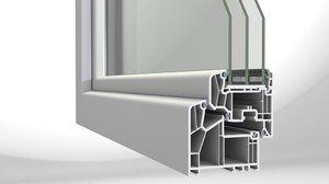 modern window 3d model