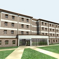green building office 3d model