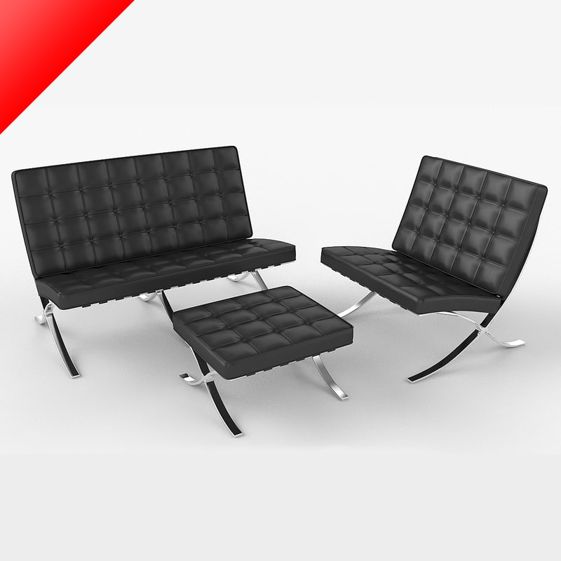 mies sofa mid century style barcelona sofa ludwig mies van der rohe at thesofa. Black Bedroom Furniture Sets. Home Design Ideas