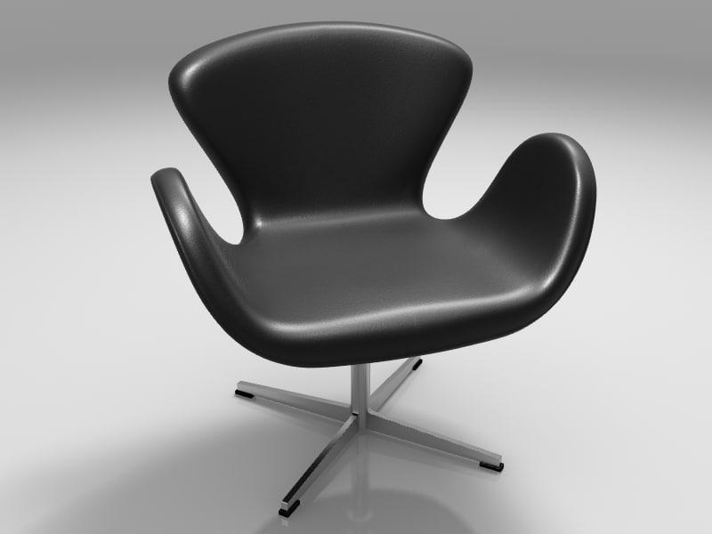3d swan chair chair1 model
