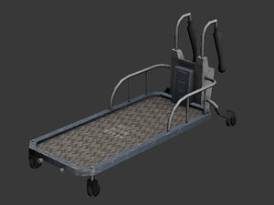 3d model of large trolley