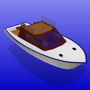 fishing boat watercraft wc 3d model